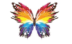 Colorful-Butterfly-Painting-Wallpaper